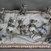 Куклы и игрушки ручной работы. Ярмарка Мастеров - ручная работа Перламутровые мышата.. Handmade.