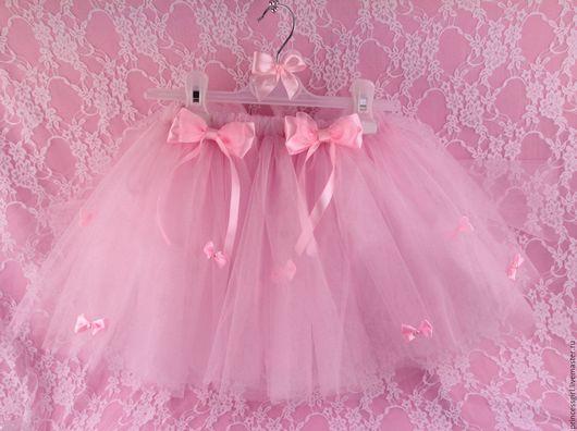 Одежда для девочек, ручной работы. Ярмарка Мастеров - ручная работа. Купить Пышная юбка с обручем Бантики. Handmade. Белый