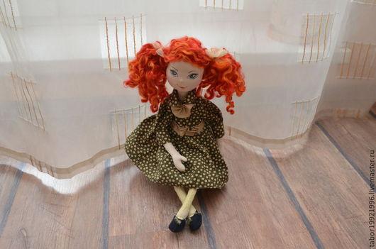 """Коллекционные куклы ручной работы. Ярмарка Мастеров - ручная работа. Купить Игровая текстильная кукла """"Рыжая девчонка"""". Handmade. Рыжий"""
