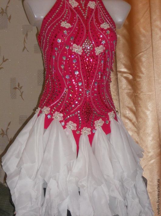Танцевальные костюмы ручной работы. Ярмарка Мастеров - ручная работа. Купить Платье для танцев ла. Handmade. Латина, шифон, бисер