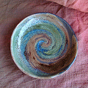 Посуда ручной работы. Ярмарка Мастеров - ручная работа Тарелка «Ураган». Handmade.