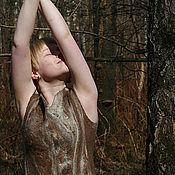 """Одежда ручной работы. Ярмарка Мастеров - ручная работа Валяное платье """"City Jungle"""". Handmade."""