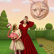 """Картины и панно ручной работы. Ярмарка Мастеров - ручная работа Фотосказка """"Алиса в стране чудес. Крокет у королевы"""". Handmade."""