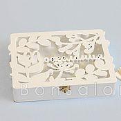 Свадебный салон ручной работы. Ярмарка Мастеров - ручная работа Шкатулочка для пожеланий АЛБ-24. Handmade.