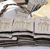 Для дома и интерьера ручной работы. Ярмарка Мастеров - ручная работа Саше лаванда прованс 50 шт Набор свадебные подарки гостям Персональные. Handmade.