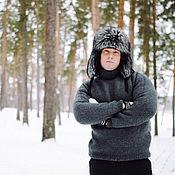 Свитеры ручной работы. Ярмарка Мастеров - ручная работа Вязаный мужской свитер. Handmade.