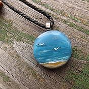 кулон с морским пейзажем