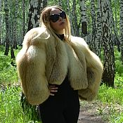 Одежда handmade. Livemaster - original item coat. jacket. Bolero from fur of the Siberian red Fox.. Handmade.