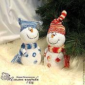 Подарки к праздникам ручной работы. Ярмарка Мастеров - ручная работа Снеговичок, игрушка вязаная, подарок на новый год, новогодний сувенир. Handmade.