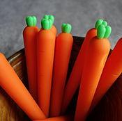 Канцелярские товары handmade. Livemaster - original item Gel pen Fresh carrots. Handmade.
