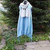 Одежда ручной работы. Ярмарка Мастеров - ручная работа №165 Платье- сарафан изо льна. Handmade.