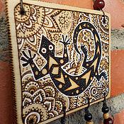 """Картины и панно ручной работы. Ярмарка Мастеров - ручная работа Картина """" Ящерица"""". Handmade."""
