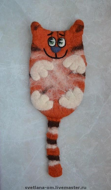 Валяный чехол, валяный кот, рыжий кот, валяный чехол, чехол для телефона, чехол для мобильного телефона, кот ручной работы, чехол ручной работы, чехол для мобильного, оригинальный подарок.