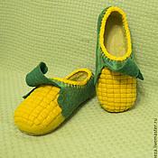 Обувь ручной работы. Ярмарка Мастеров - ручная работа Тапки Кукуруза. Handmade.
