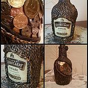 Подарки к праздникам ручной работы. Ярмарка Мастеров - ручная работа мужская бутылка. Handmade.