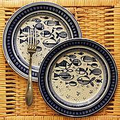 """Посуда ручной работы. Ярмарка Мастеров - ручная работа """"Те самые рыбы"""". Handmade."""