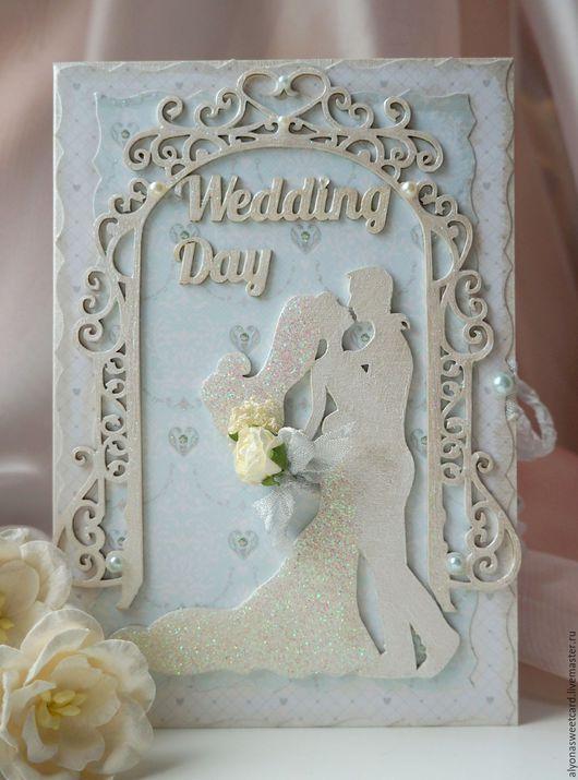 """Открытки на все случаи жизни ручной работы. Ярмарка Мастеров - ручная работа. Купить Открытка ручной работы """"Wedding Day"""". Handmade."""