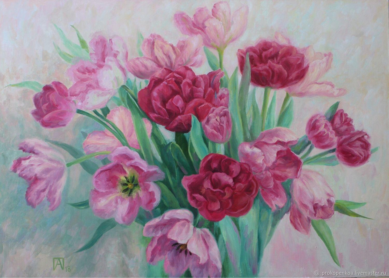 Аромат весны ( тюльпаны). Картина маслом, Картины, Краснодар,  Фото №1