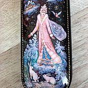 Сумки и аксессуары handmade. Livemaster - original item The snow maiden and rabbits .Lacquer miniature, eyeglass case. Handmade.