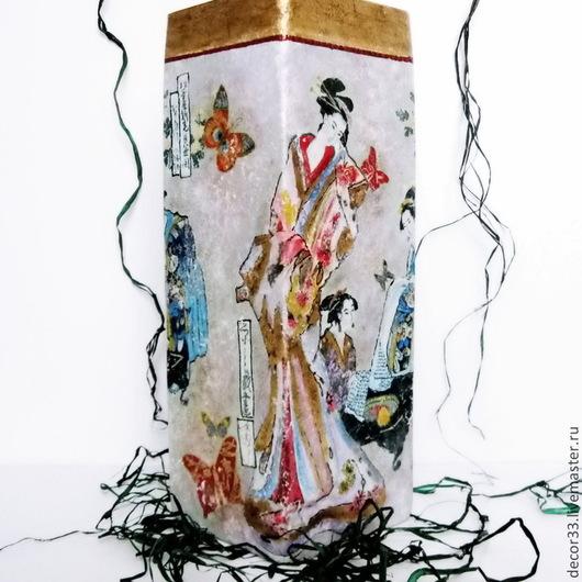 Вазы ручной работы. Ярмарка Мастеров - ручная работа. Купить Ваза Гейши. Handmade. Разноцветный, подарок семье, подарок подруге