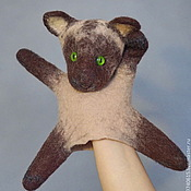 Куклы и игрушки handmade. Livemaster - original item Cat. Glove puppet. Bi-BA-Bo.. Handmade.