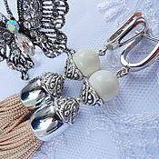 Украшения handmade. Livemaster - original item Earrings tassels silver