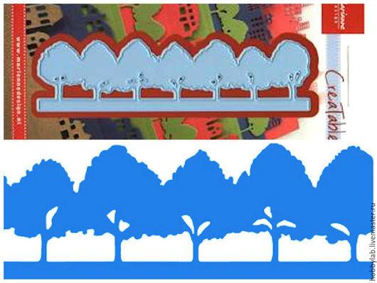 Открытки и скрапбукинг ручной работы. Ярмарка Мастеров - ручная работа. Купить Форма для вырубки Горизонт. Деревья. Handmade. дешево, деревья
