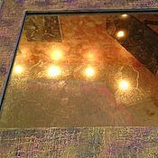 Для дома и интерьера ручной работы. Ярмарка Мастеров - ручная работа Винтажное этно зеркало из потали и рама ручной работы. Handmade.