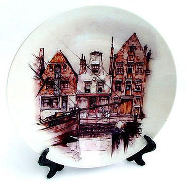 """Посуда ручной работы. Ярмарка Мастеров - ручная работа Тарелка """"Домики Голландии"""". Handmade."""