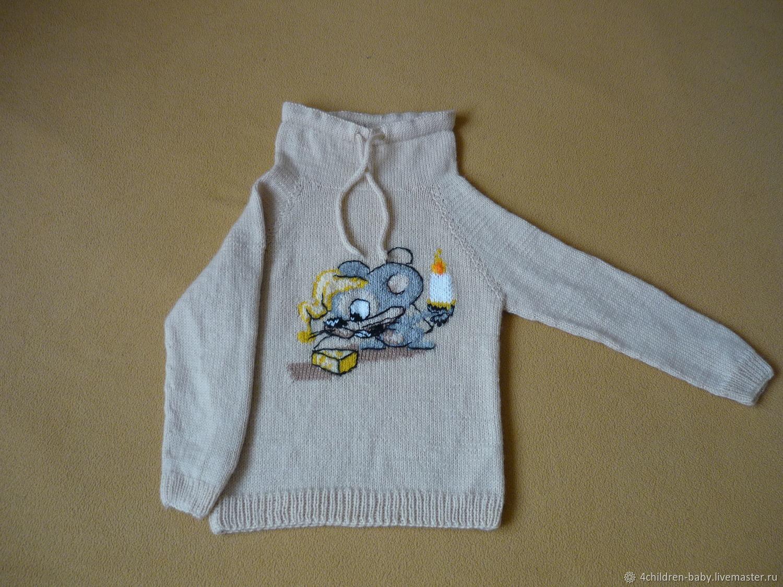 Бежевый свитер с мышонком, Свитеры и джемперы, Москва,  Фото №1