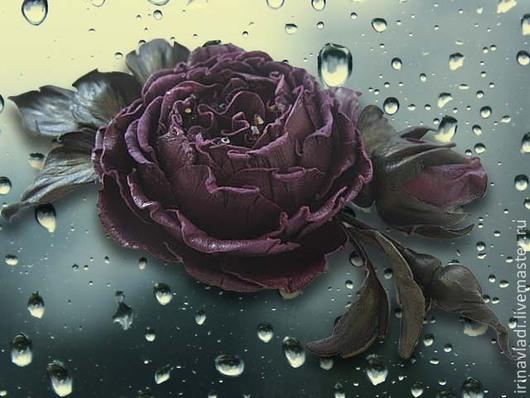 цветы из кожи, кожаный цветок брошь, кожаный цветок заколка, заколка для волос роза, фиолетовая роза,  роза с бутоном брошь,  ободок с цветком, обруч для волос кожаный с цветком, браслет на руку с цве