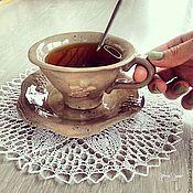 """Посуда ручной работы. Ярмарка Мастеров - ручная работа Чайная пара """"Виноградная гроздь"""". Handmade."""