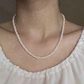 Винтаж handmade. Livemaster - original item Vintage necklace made of Czech beads white choker around the neck. Handmade.