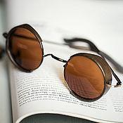 Аксессуары handmade. Livemaster - original item Sunglasses with wooden inserts Milton Dark. Handmade.