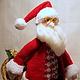 Новый год 2017 ручной работы. Santa Claus из Лапландии. Marina Simacheva. Ярмарка Мастеров. Новогодний интерьер, вязаное полотно