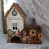 """Для дома и интерьера ручной работы. Ярмарка Мастеров - ручная работа чайный домик с конфетницей """"Мамины сказки"""". Handmade."""