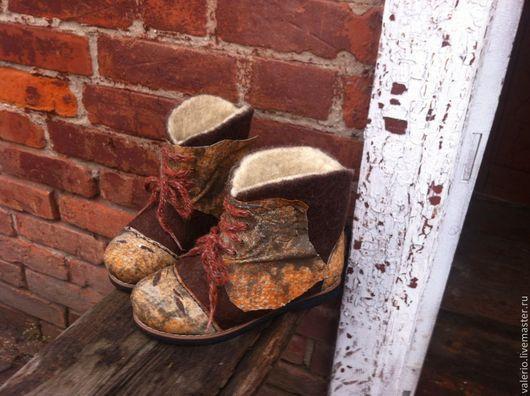 Обувь ручной работы. Ярмарка Мастеров - ручная работа. Купить Шаман. Handmade. Валенки, сапоги, кожа