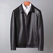 Мужская одежда handmade. Livemaster - original item Men`s outerwear: genuine leather jacket, black color.. Handmade.