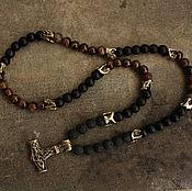 Украшения handmade. Livemaster - original item men`s beads on the neck with the Hammer of Thor. Handmade.