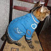 """Одежда для питомцев ручной работы. Ярмарка Мастеров - ручная работа Кофточка для котика """"сердешная"""". Handmade."""