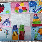 Куклы и игрушки ручной работы. Ярмарка Мастеров - ручная работа Развивающий коврик, напольный. Handmade.