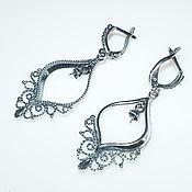 Материалы для творчества handmade. Livemaster - original item Basis for earrings Afina silver 925, Russia. Handmade.