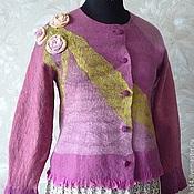 """Одежда ручной работы. Ярмарка Мастеров - ручная работа Жакет валяный """"Pink roses"""". Handmade."""