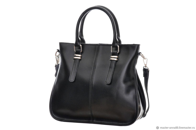 9a4eb233128f Женские сумки ручной работы. Ярмарка Мастеров - ручная работа. Купить  Черная женская кожаная сумка ...