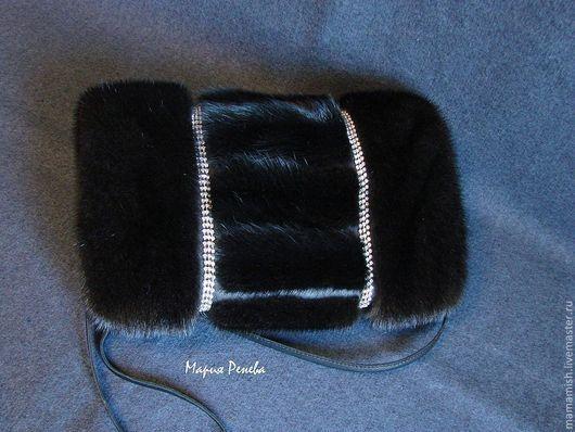Варежки, митенки, перчатки ручной работы. Ярмарка Мастеров - ручная работа. Купить Муфта черная норковая. Handmade. Муфта, синтепон
