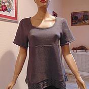Одежда ручной работы. Ярмарка Мастеров - ручная работа Кофточка топ вязаная летняя с ажуром. Handmade.