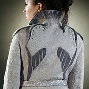 Одежда ручной работы. Ярмарка Мастеров - ручная работа Валяный жакет в стиле милитари. Handmade.