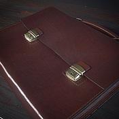 Сумки и аксессуары ручной работы. Ярмарка Мастеров - ручная работа Кожаный портфель ручной работы. Handmade.