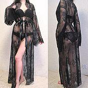 """Одежда ручной работы. Ярмарка Мастеров - ручная работа Пеньюар в пол """"Selena"""". Будуарное платье.. Handmade."""