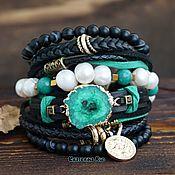 Украшения handmade. Livemaster - original item Leather bracelet in the Boho-chic style